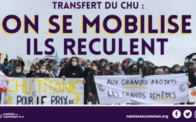 Transfert du CHU : on se mobilise, ils reculent