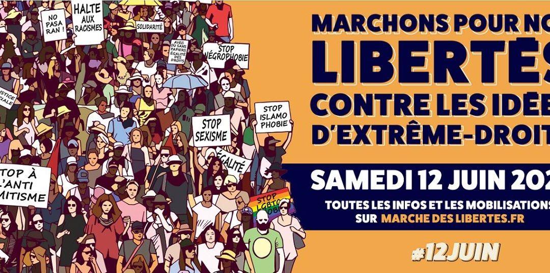 Marche nantaise le 12 juin à 11h pour les libertés et contre les idées d'extrême droite